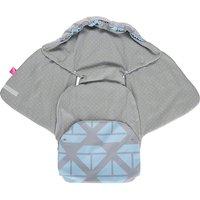 Einschlagdecke Babyschale und Kinderwagen aus Softshell, Baumwolle und Fleece - Schiffe blau  Kinder