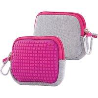 Pixie Crew: Universaltasche, grau/pink rosa/grau
