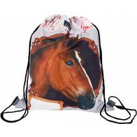 Sportbeutel HORSES rosa/grau