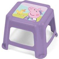 Kinder Hocker aus Kunststoff, Peppa Pig, rosa, 27 x 27 x 21 cm