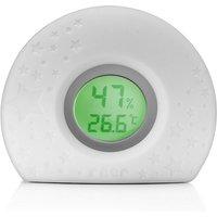 HygroTemp 2in1 digitales Hygro- und Thermometer mit Farbwechsel weiß