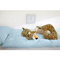 2in1 Kinderkissen Tiger braun