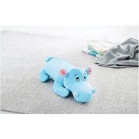 2in1 Kinderkissen Nilpferd hellblau