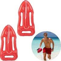 2 x Rettungsboje aufblasbar Strandparty Karneval Schwimmboje Rettungsbrett rot