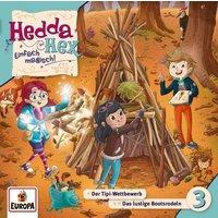 Hedda Hex F3 - Der Tipi Wettbewerb/Das lustige Bootsrodeln, Audio-CD Hörbuch