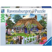 Puzzle 1500 Teile, 80x60 cm, Cottage in England