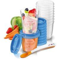 Philips Avent Nahrungs-Mehrwegbecher 10x 180 ml und 10xv240 ml, 1 Set