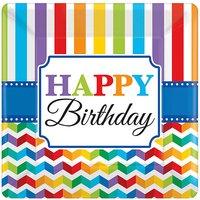 Teller Happy Birthday, 8 Stück