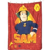 Kuscheldecke Feuerwehrmann Sam, 130 x 160 cm rot