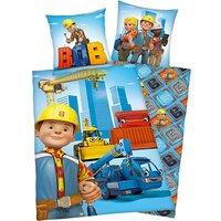 Wende- Kinderbettwäsche Bob der Baumeister, Renforcé, 135 x 200 cm blau