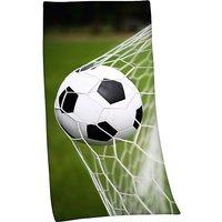 Strand- / Badetuch Fußball 75 x 150 cm grün