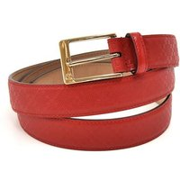 'Gucci Red Diamante Leather & Gold-tone Buckle Belt - Size Xl 110/44, Red