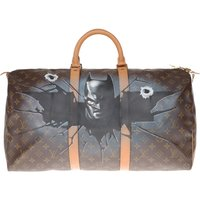 LV Keepall 60 Travel bag in monogram canvas customized