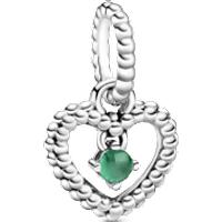 Charm colgante Corazón de Abalorio verde tropical Talla única Cristales