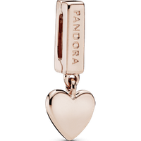 Charm colgante Corazón Recubrimiento en Oro Rosa de 14k Reflexions Talla única Sin gema