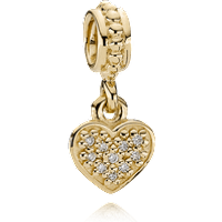 Charm colgante de oro colgante corazón Talla única Diamante gh/vs