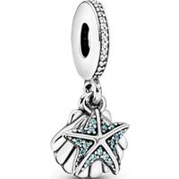 Charm Colgante Estrella Y Concha De Mar Talla única Zirconia cúbica