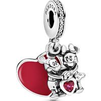 Charm Colgante PANDORA Minnie Y Mickey Con Amor De Disney Talla única Zirconia cúbica