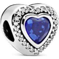 Charm Corazón azul resplandeciente Talla única Piedras mezcladas