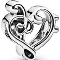 Charm Corazón Clave de Sol Talla única Sin gema