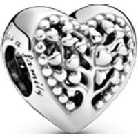 Charm Corazón con árbol de familia Talla única Sin gema