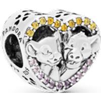 Charm Corazón con Simba y Nala El Rey León de Disney Talla única Piedras mezcladas