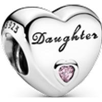 Charm Corazón de hija Talla única Zirconia cúbica