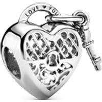 Charm Corazón Yo te amo Talla única Sin gema