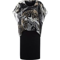 2-in-1 Dress In Chiffon And Jersey Doris Streich Multicoloured