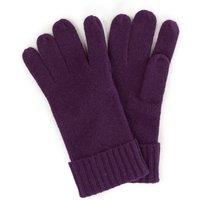 Gloves In 100% Cashmere Peter Hahn Cashmere Purple