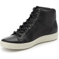 Ankle-high Sneakers Soft 7 In 100% Leather Ecco Black
