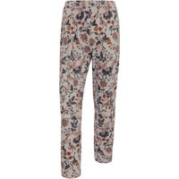 7/8-length Pull-on Trousers Green Cotton Multicoloured