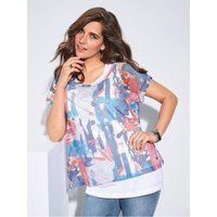 2-in-1 top in layered look FRAPP blue