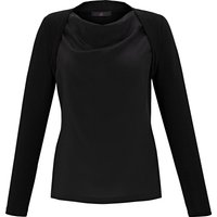 2-in-1 shirt made of 100% silk Emilia Lay black