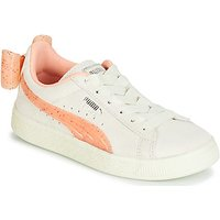 Puma  PS SUEDE BOW JELLY AC.WHIS  girls's Children's Shoes (Trainers) in Beige