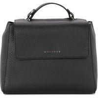 Orciani  Sveva small black tumbled leather handbag  womens Handbags in Black