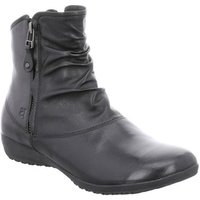 Josef Seibel  Naly 24 Womens Ruched Leather Twin Zip Ankle Boots  women's Low Ankle Boots in Black