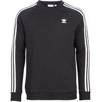 adidas  3 STRIPES CREW  men's Sweatshirt in Black