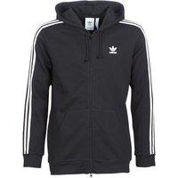 adidas  3 STRIPES FZ  men's Sweatshirt in Black
