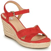 Geox D Soleil Sandals In Red