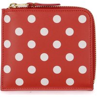 Comme Des Garcons  red polka dot leather wallet  womens Purse wallet in Red