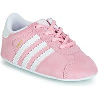 'Adidas  Gazelle Crib  Girls's Children's Shoes (trainers) In Pink. Sizes Available:2 Toddler,3 Toddler,4 Toddler,5 Toddler,1 Toddler,2 Toddler,3 Toddler,4 Toddler