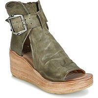 Airstep / A.s.98 Noa Buckle Sandals In Green