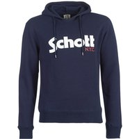 Schott  HOOD  men's Sweatshirt in Blue
