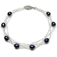 Blue Pearls  BPS 0205 Y  women's Bracelet in Multicolour