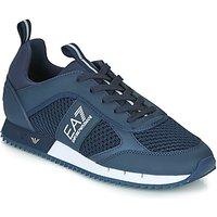 Emporio Armani EA7  BLACK WHITE LACES U  men's Shoes (Trainers) in Blue