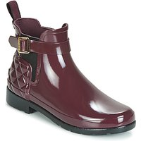 Hunter-REFINED-GLOSS-QUILT-CHELSEA-womens-Wellington-Boots-in-Bordeaux