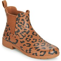 Hunter-ORG-REFINED-CHELSEA-HYBRD-PRNT-womens-Wellington-Boots-in-Brown