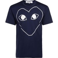 Comme Des Garcons  blue t-shit with white heart  mens T shirt in Blue