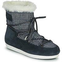 Moon Boot  MOON BOOT FAR SIDE LOW FUR TARTAN  womens Snow boots in Blue
